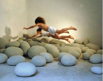 Stone pillows.