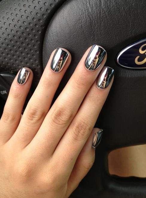 Natural Short Nails Designs Beauty Natural Short Nails Designs Beauty Metallic Nail Art Metallic Nails Mirror Nails