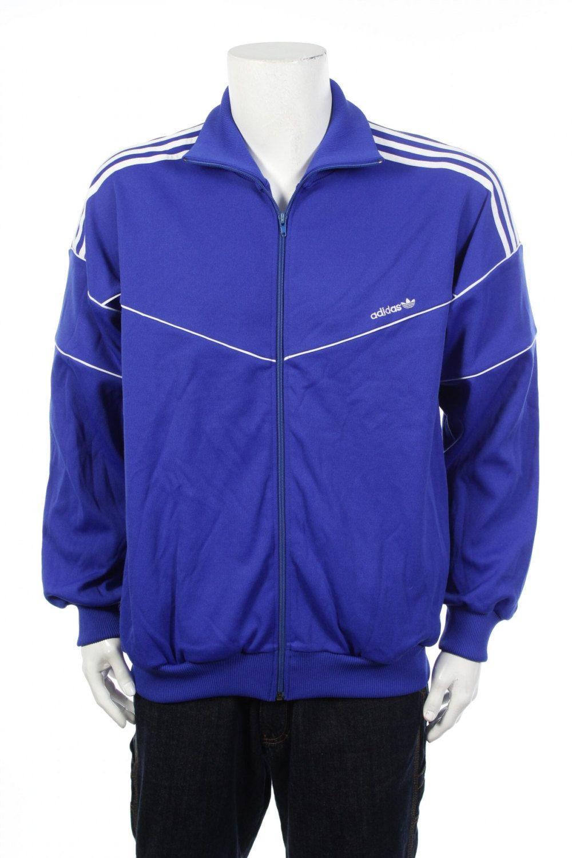 d85ba7ce7145 Vintage 90s Adidas Trefoil Logo Tracksuit Top Windbreaker jacket Blue White  Size XL by VapeoVintage on Etsy