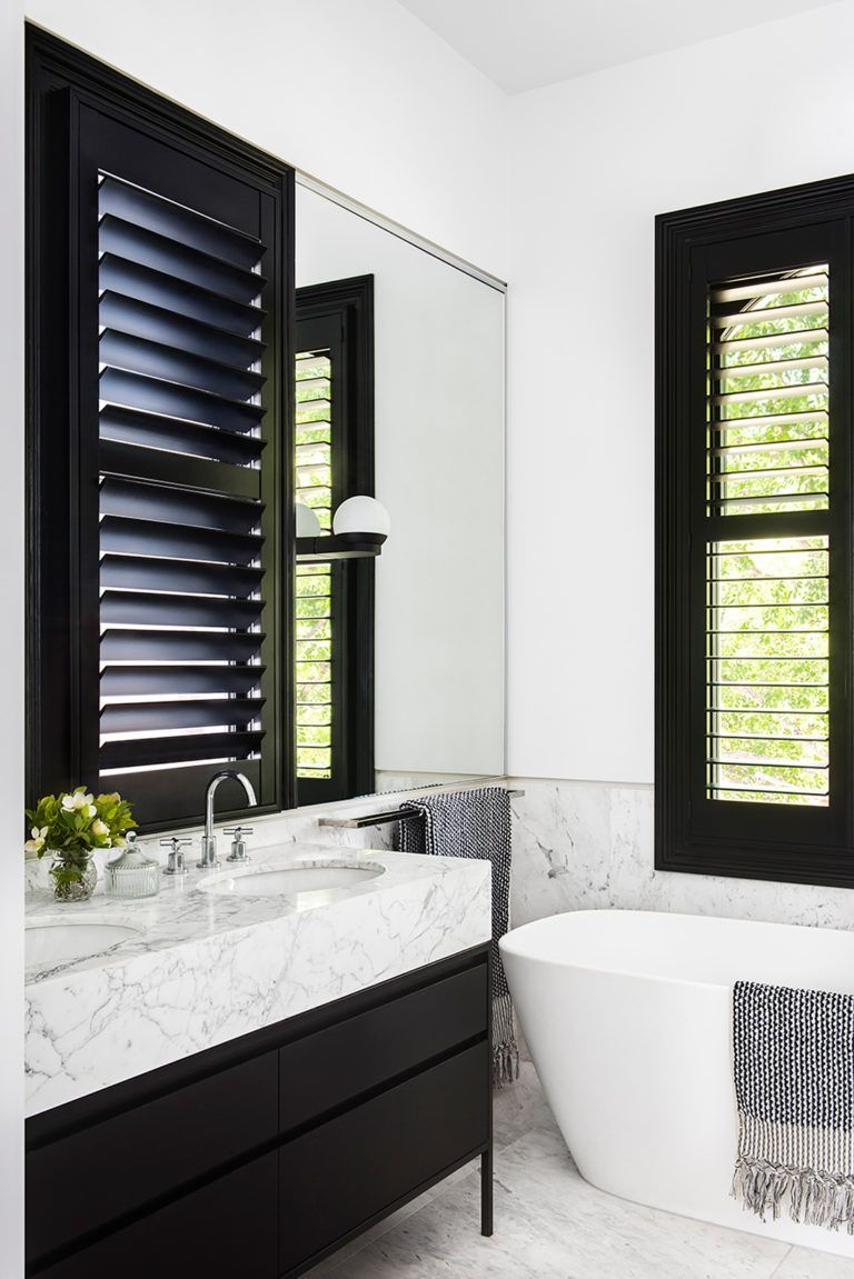 Contemporary Black & White Bathroom Design | Bathroom Remodeling ...