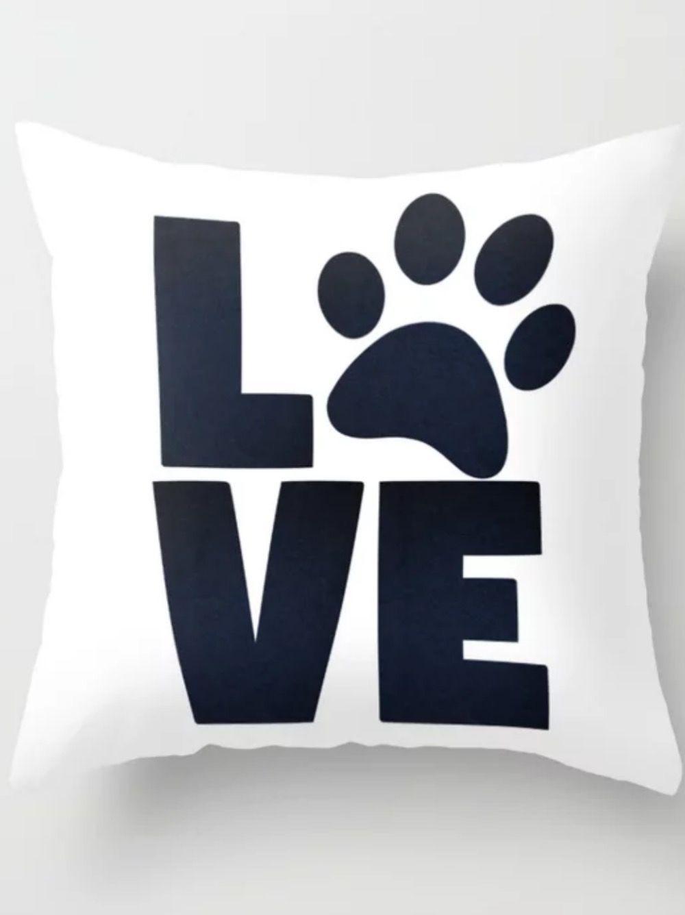 Love Pets Paw Cat Dog Cute Throw Pillow Throw Pillows Pillows Diy Throw Pillows