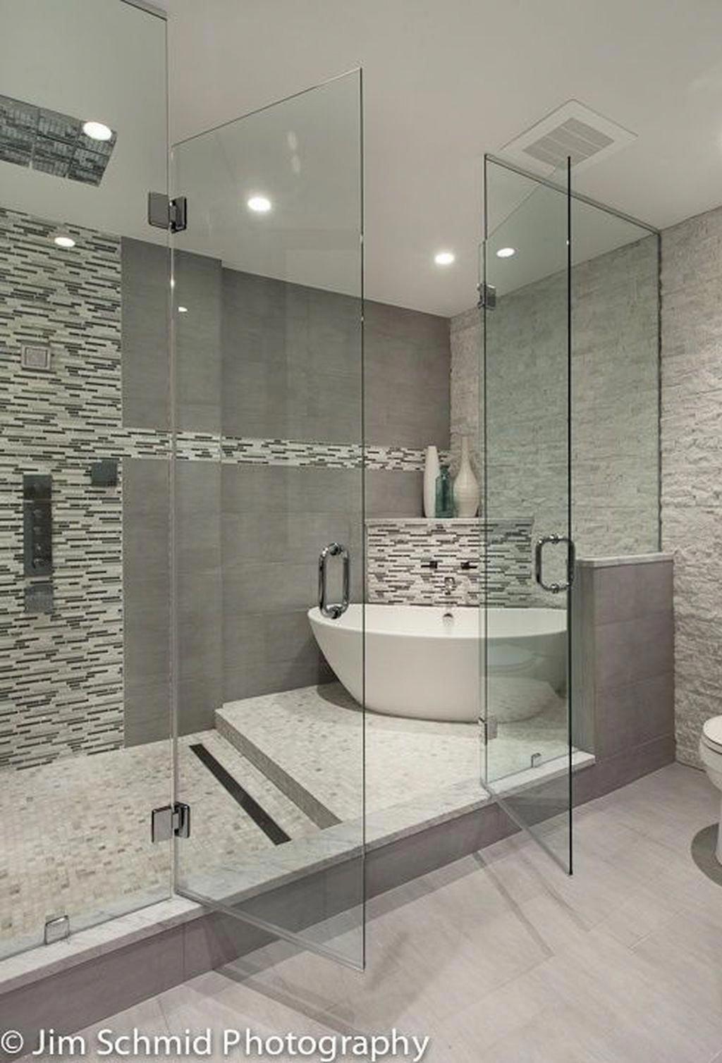 Stunning 30 Best Master Bathroom Shower Remodel Ideas To Try Bathroom Ideas Bathroomd Master Bathroom Design Bathroom Remodel Master Master Bathroom Shower