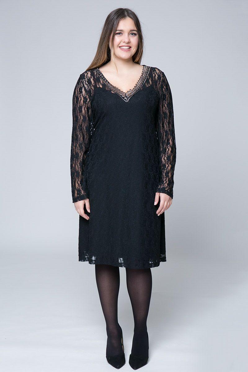 26b4bdefb576 Midi διπλό φόρεμα δαντέλας σε μαύρο χρώμα με χρυσή τρέσα