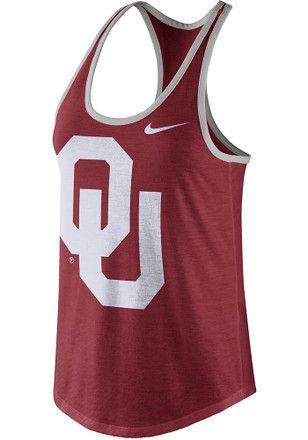 Nike Oklahoma Sooners Womens Red Dri-blend Tank Top