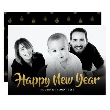 Happy New Year 2018 Family Photo Greeting Holiday Card   holiday