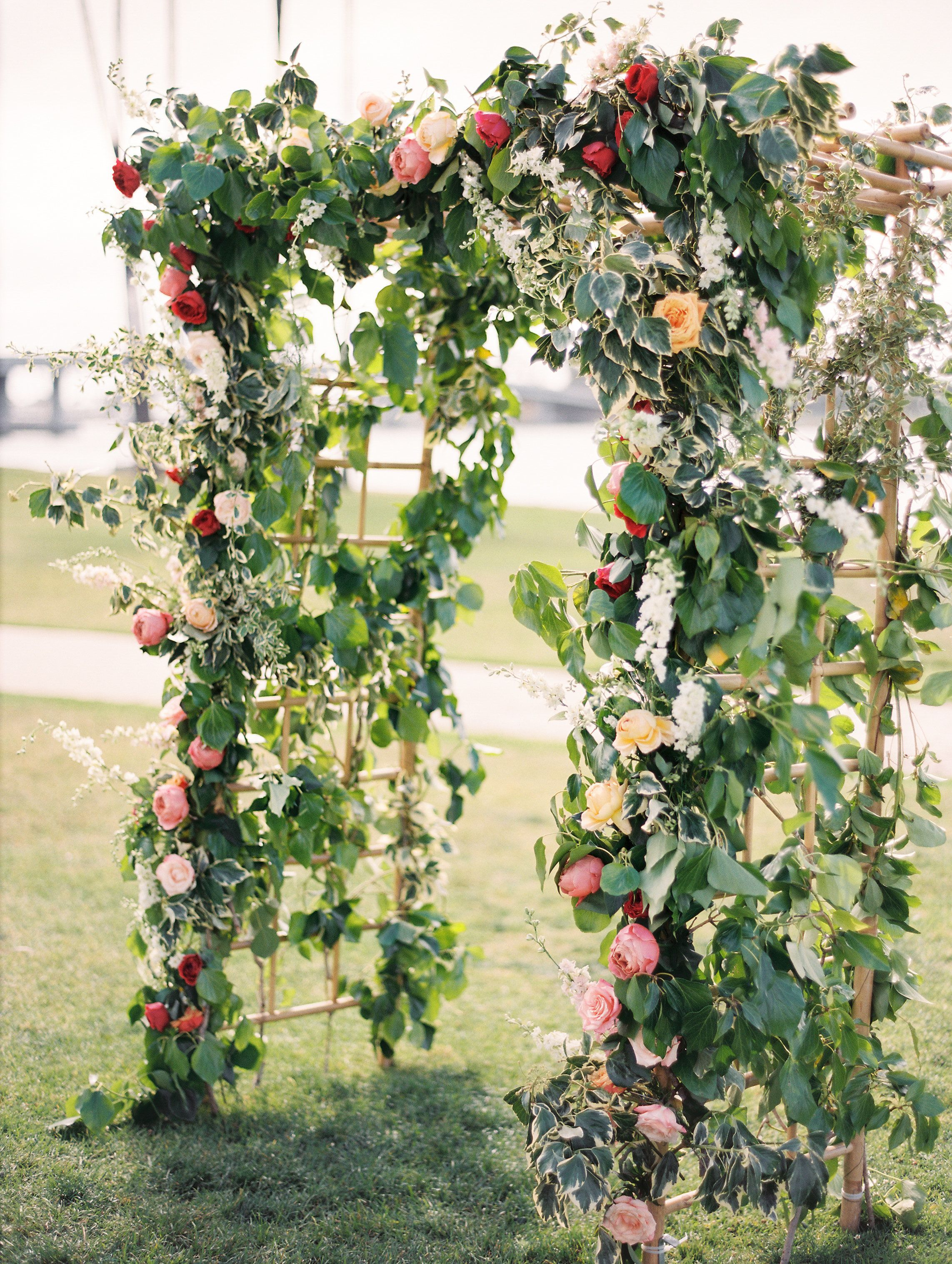 Garden wedding stage decoration  This Ballroom Wedding by the Sea Shines Bright  Ballrooms Wedding