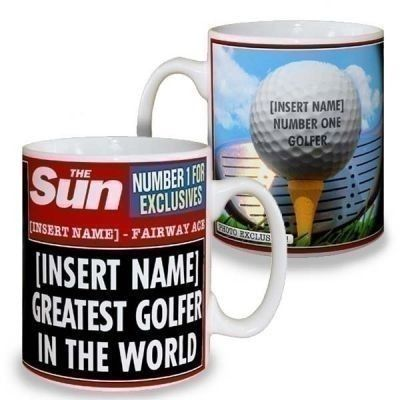 If your dad is the best golfer, he deserves some recognition with a Sun Newspaper Best Golfer Mug! #FathersDay #FathersDayGifts #PersonalisedGifts #PersonalisedMug #NewspaperMug  £10.99