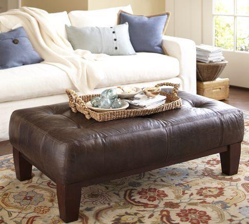 sullivan leather rectangular ottoman