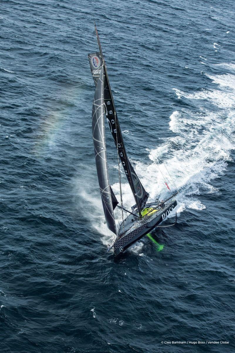 Alex Thomson (GBR), skipper Hugo Boss Sailing aerial ...