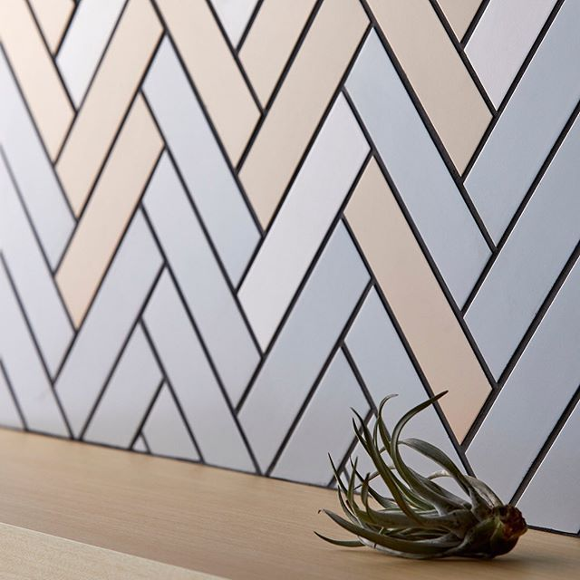 Beautiful Homeinterior Design: The Herringbone Pattern Made With A Tile. It Is Very