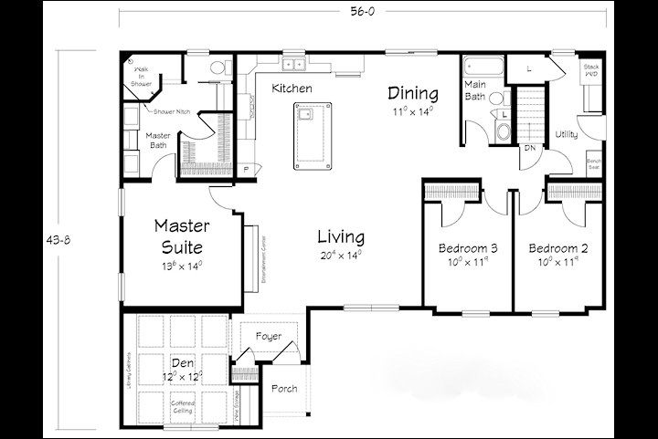 This Is An Incredibly Open Floor Plan The Master Bathroom Is Amazing With Images Modular Homes Modular Home Plans Modular Home Floor Plans