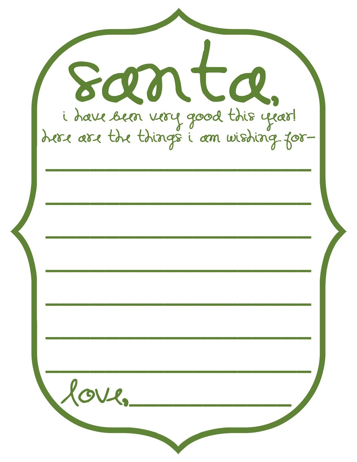 Mommy By Day Crafter By Night Free Printable Dear Santa