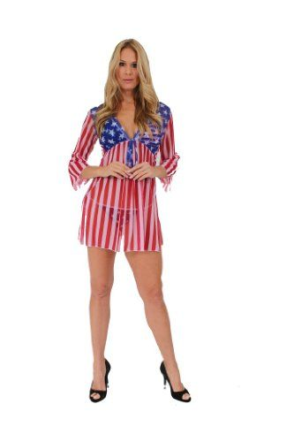 1d02d39618 Gorgeous LONG SLEEVE USA STARS AND STRIPES Swimwear Cover up SHORE TRENDZ ,http:/