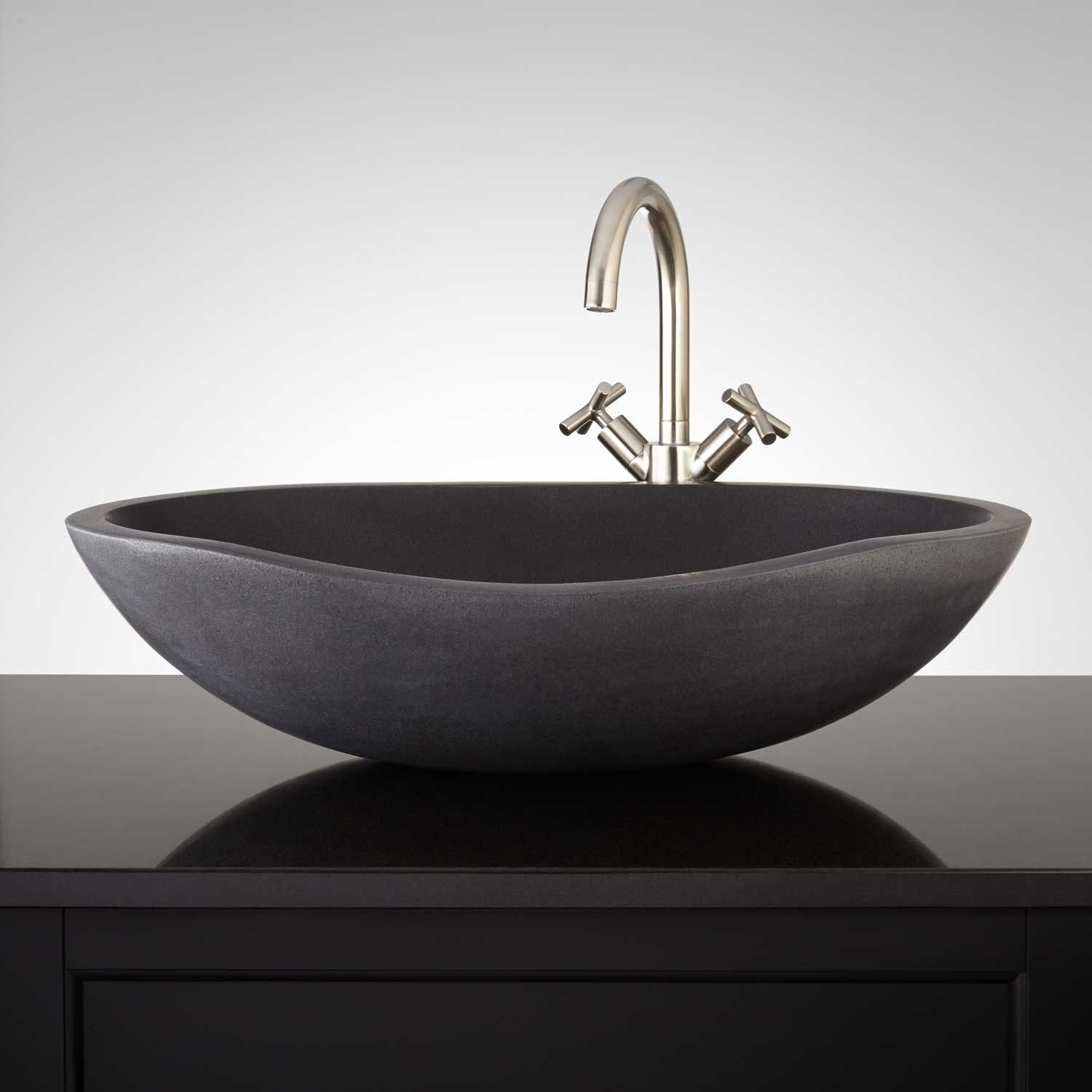 Stone Vessel Sink Bathroom