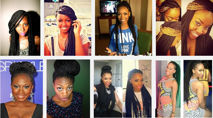 Astonishing Hairstyles For Box Braids Box Braids And Cute Box Braids On Pinterest Hairstyle Inspiration Daily Dogsangcom