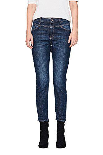 edc by ESPRIT Damen Boyfriend Jeans 107CC1B007 Blau (Blue
