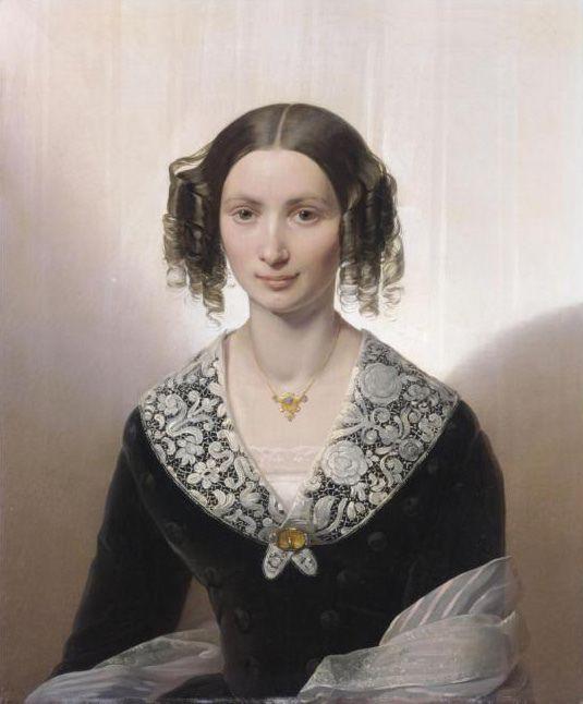 Giuseppe Molteni ( Affori 1800 - Milano 1867) ritratto della contessa Francesca Pallavicini Rein