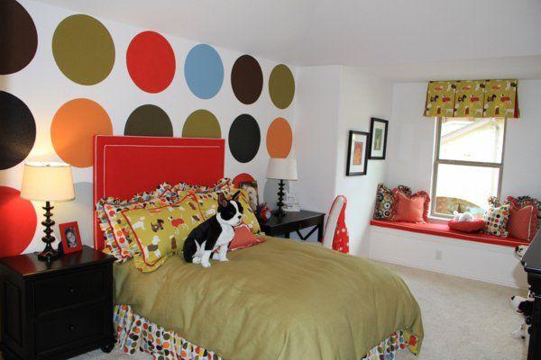 wände streichen wohnideen für erstaunliche wanddekoration punkte, Wohnzimmer dekoo