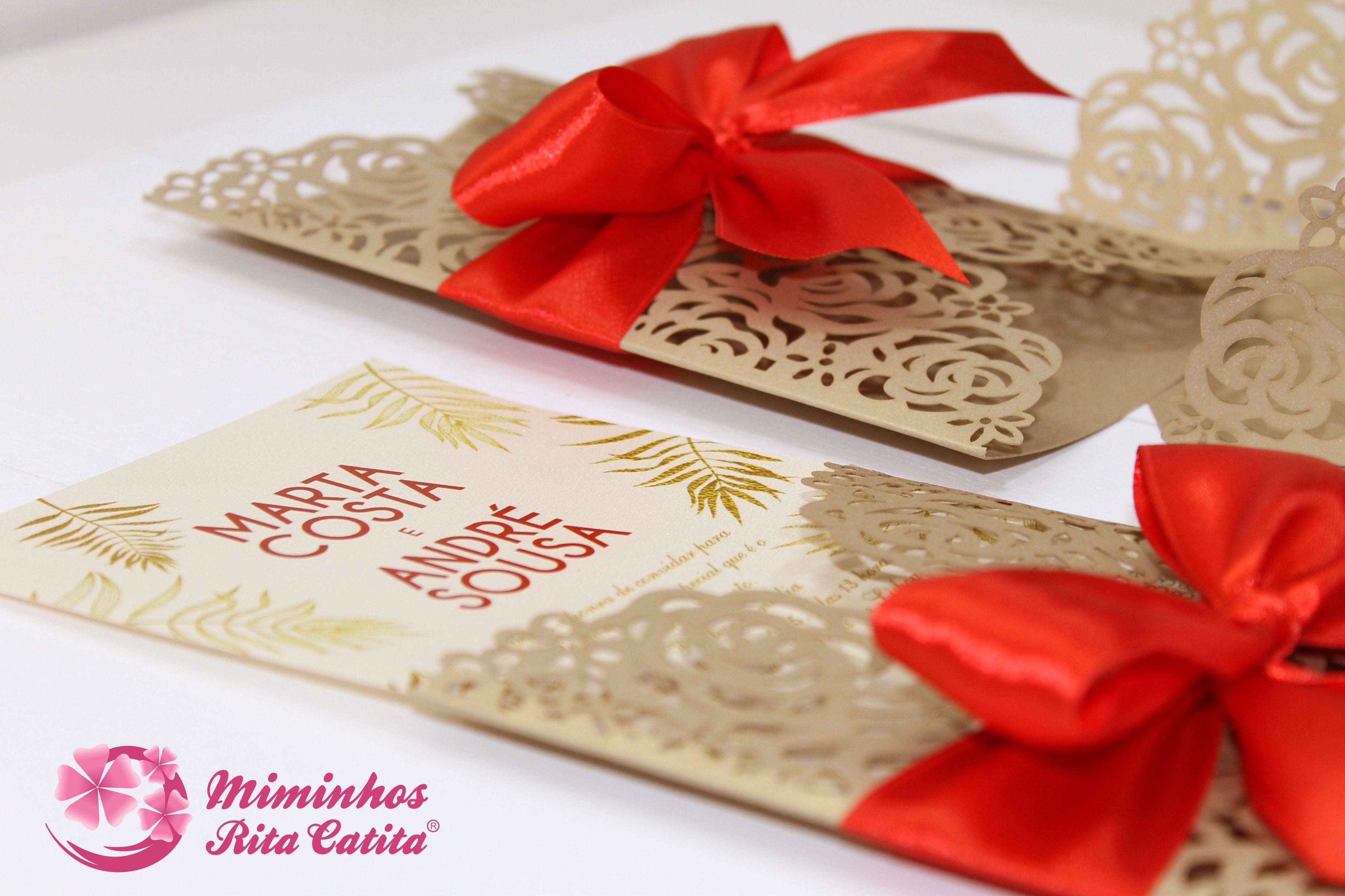 Convite Casamento recortado a laser | Convites de Casamento | Pinterest