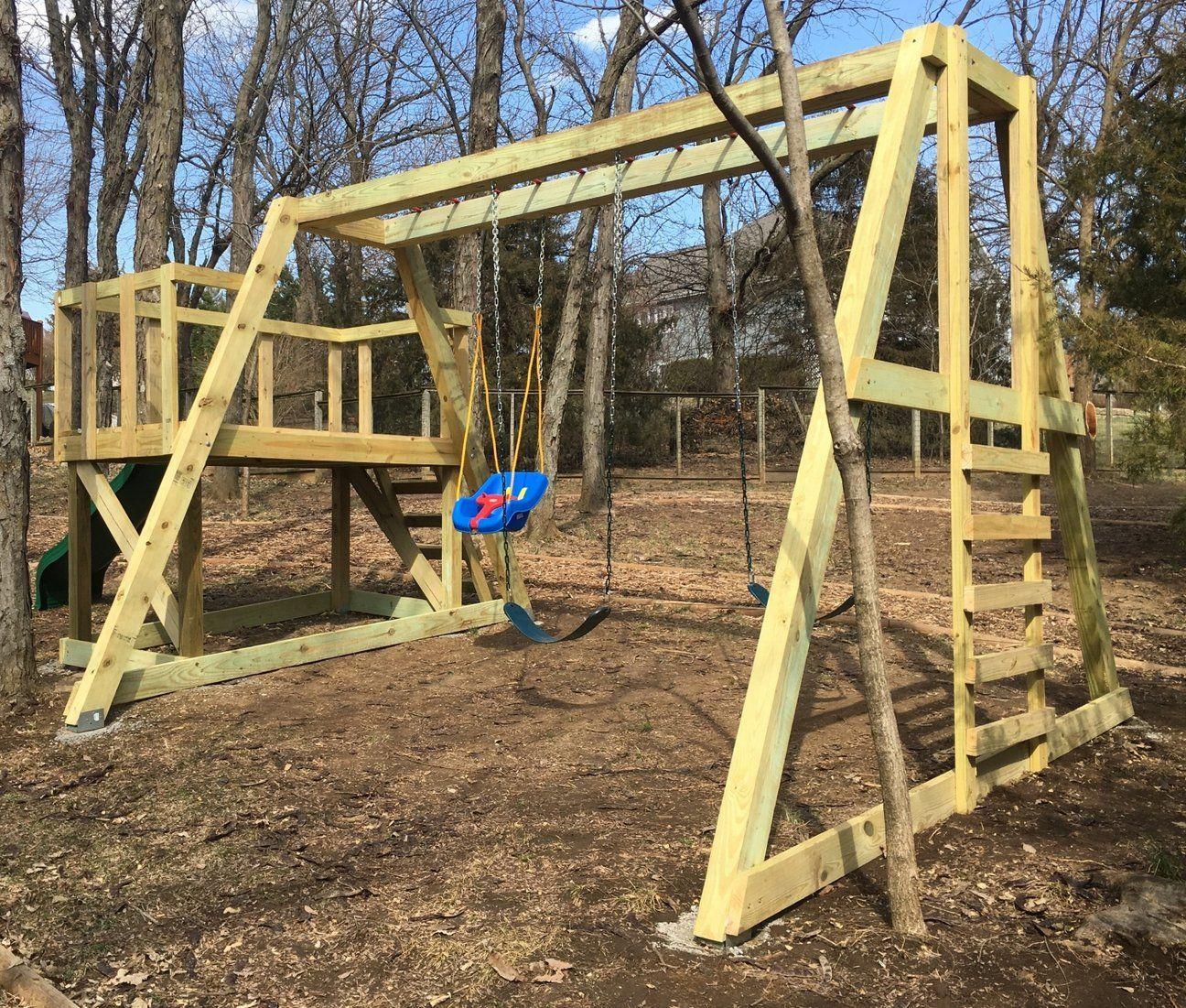 Paul's Swingset | Diy playground, Backyard playground ...