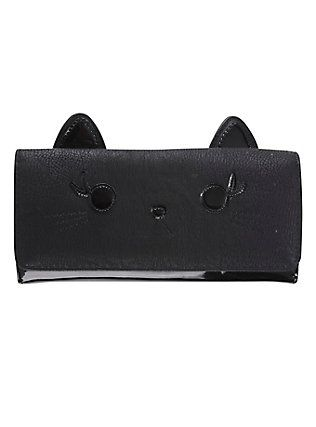 Mens Womens Wallets Iphone Wallets Wallet Chains Cat Face Black Cat Face Characters