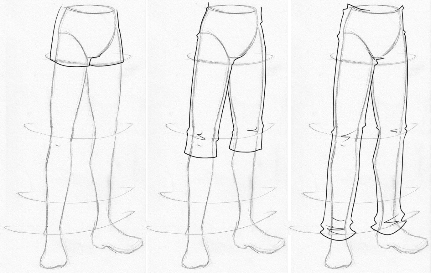 dessin manga jambe