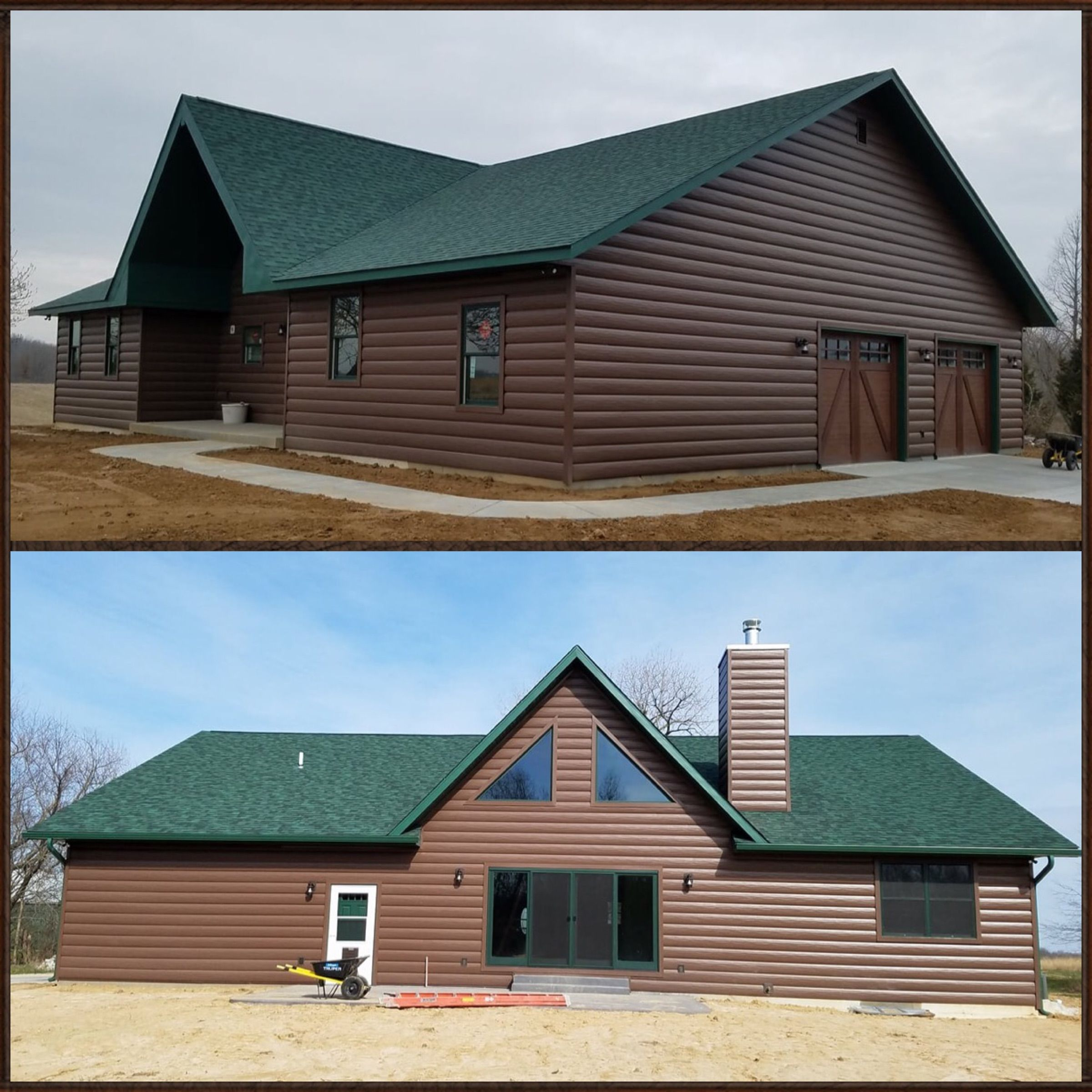 Best Beautiful Autumn Brown Siding With Green Roof Maintenance 400 x 300