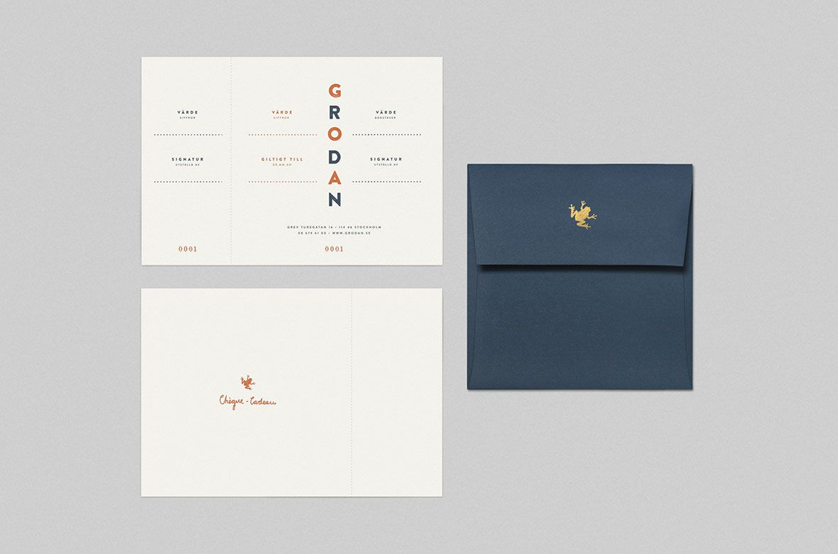 Visual identity for Stockholm  brasserie Grodan designed by 25AH.