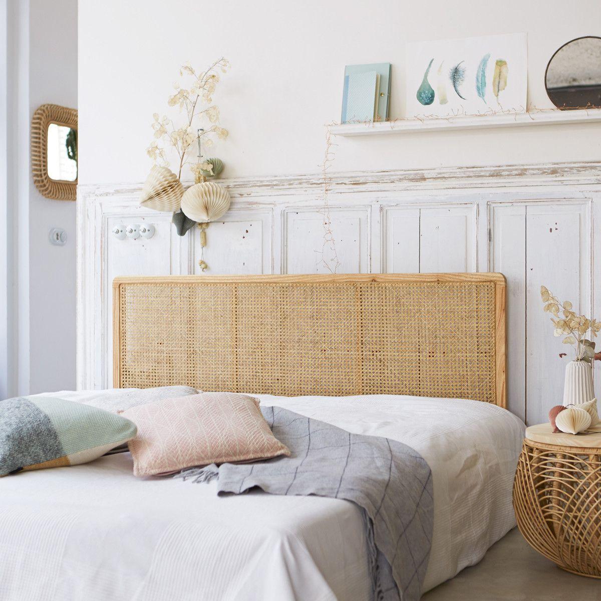 Tête de lit en rotin cannée 12 Adèle   Tête de lit en rotin, Lit ...