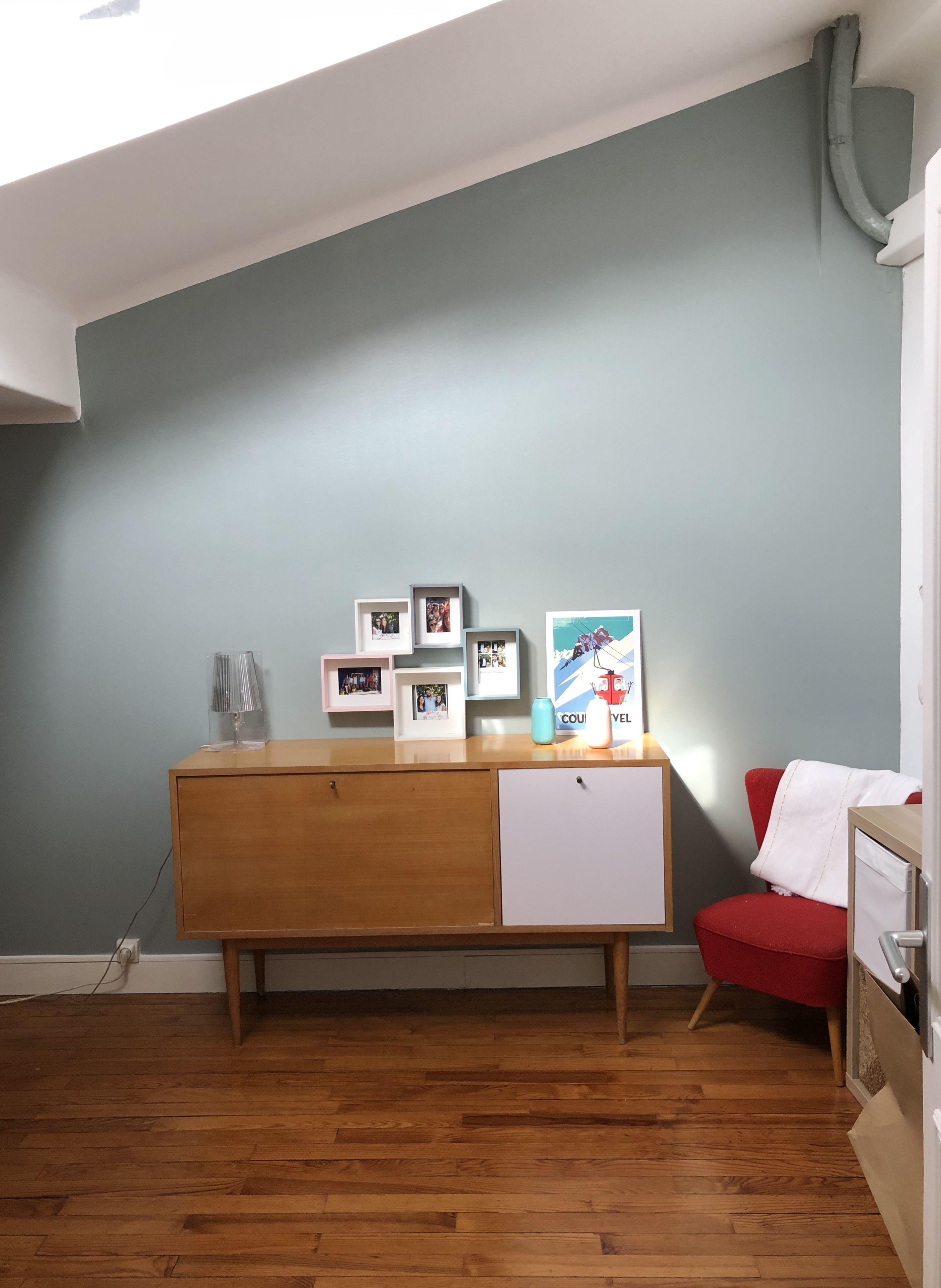 Mur Luxens Satin Sage 4 Gris vert Meuble enfilade | Chambre ...