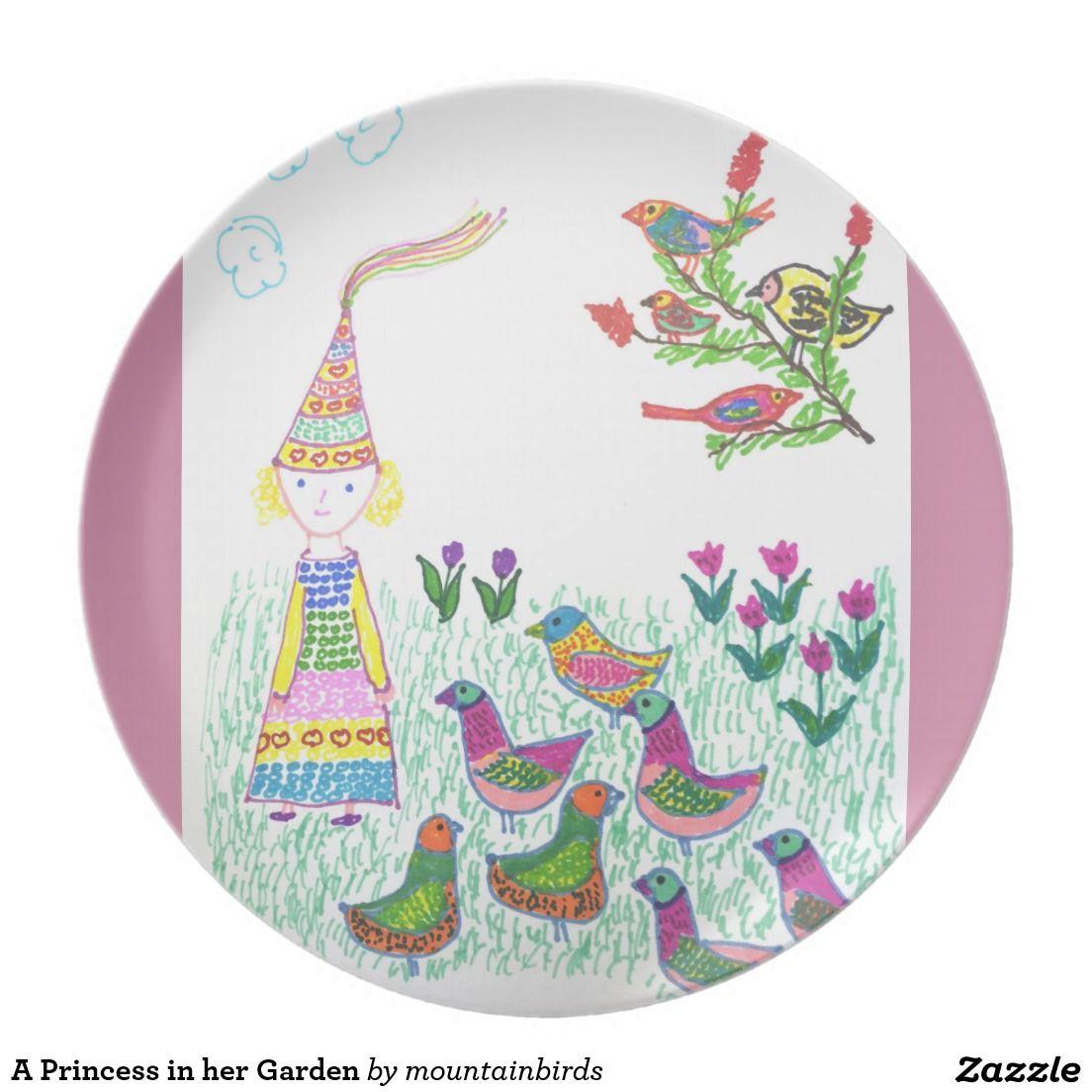 Sentimental Wedding Gift Ideas: A Princess In Her Garden Dinner Plate