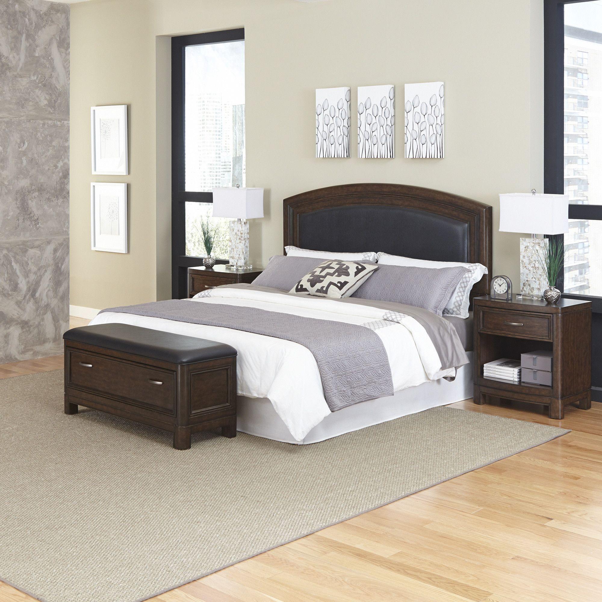 Crescent hill panel piece bedroom set products pinterest