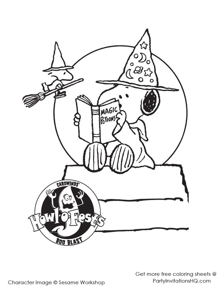 Snoopy Halloween Coloring Pages: 9 Treasured Sheets for you ...