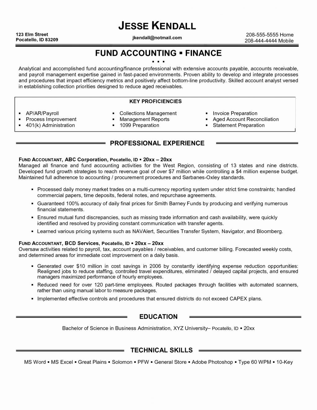 Accounts Payable And Receivable Resume New Staff Accountant Resume Summary Best Staff Accountant Resume Exle .