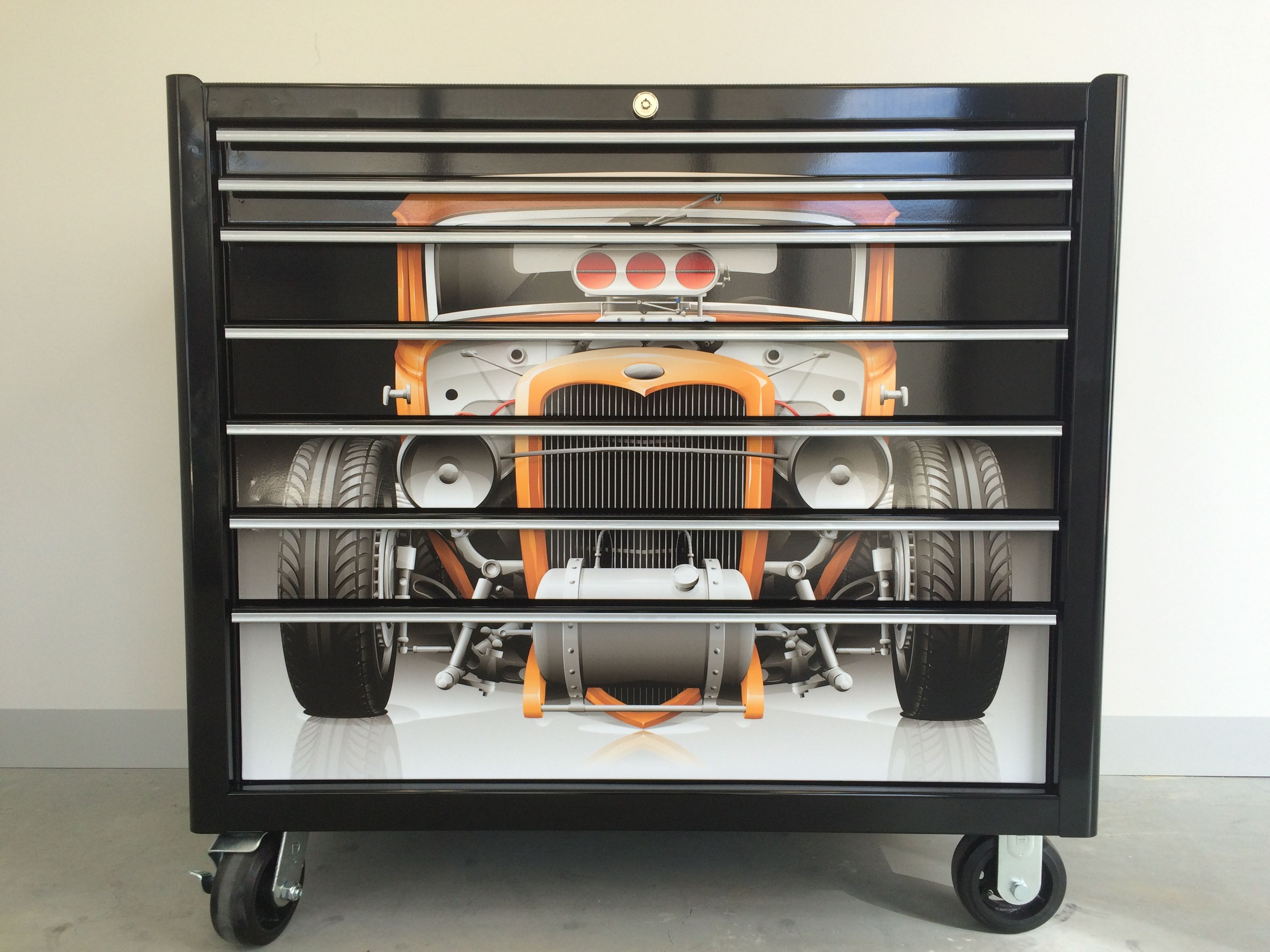 Custom Hot Rod Snap On Tool Box Wrap In 2019 Custom