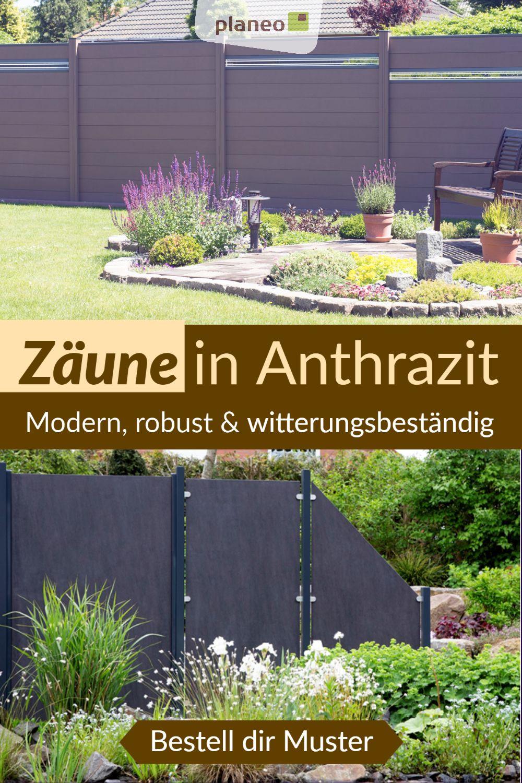 Zaune In Anthrazit Modern Hochwertig Und In Herausragender Qualitat In 2020 Garten Design Sichtschutzzaun Garten
