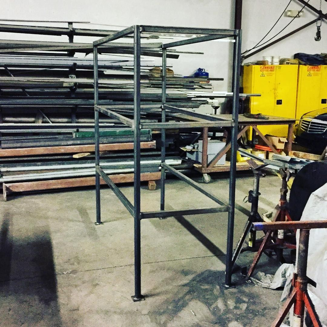 Tonight\'s project was building this storage shelf frame. #welding ...