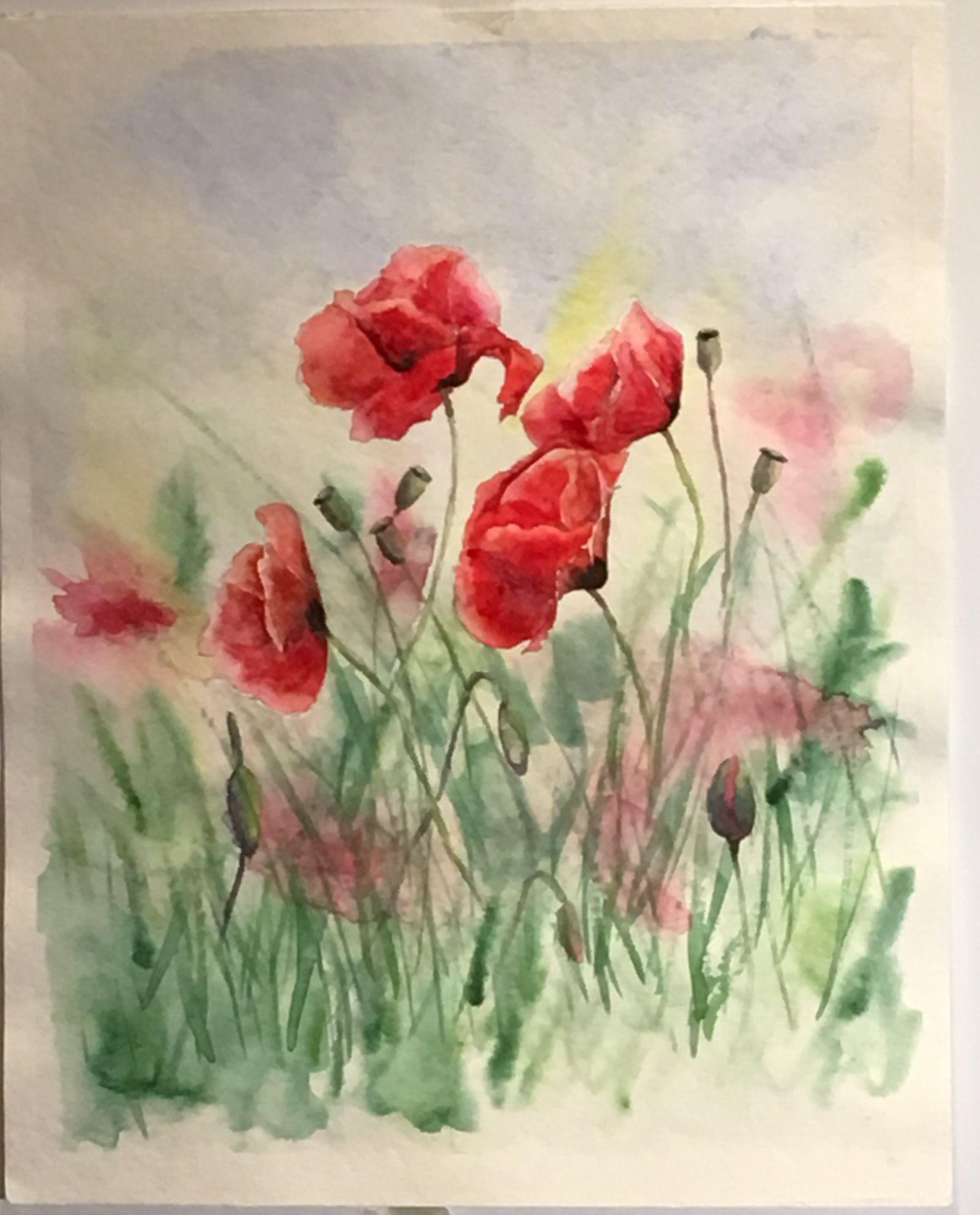 Image Par Mukerrem Ozgul Sur Gelincik Peinture Fleurs