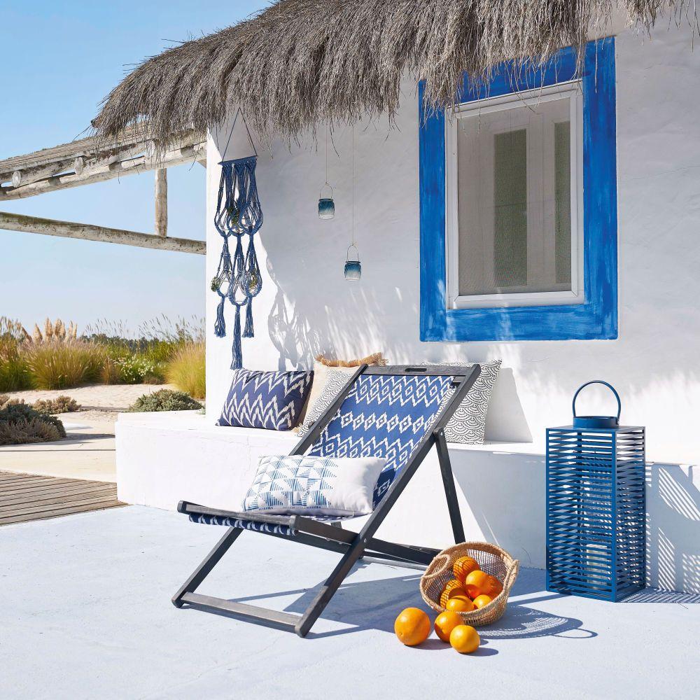 lanterne en m tal bleu et verre i 39 m blue pinterest beton cir maison blanche et volets. Black Bedroom Furniture Sets. Home Design Ideas