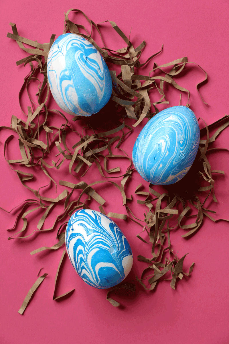 Quick Marbled Easter Eggs | Easter craft decorations ...