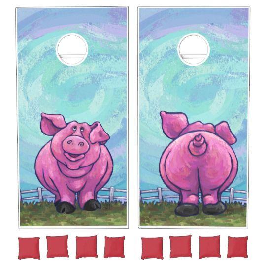 Pig Gifts & Accessories Cornhole Set   Zazzle.com   Pigs ...