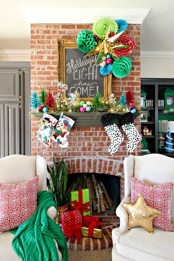 the latest a645c b9b2a CHRISTMAS MANTEL, NEW HALL DECOR, AND DIY FAUX SCONCES | Our ...