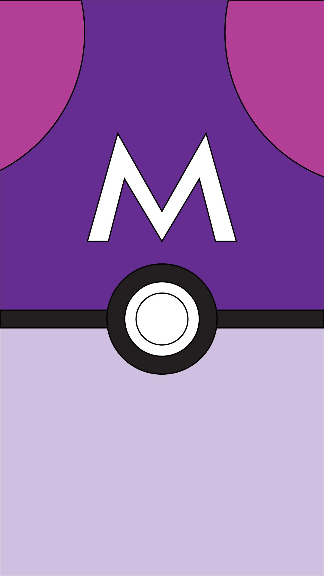 Master Ball Pokeball Pokemon Poke Ball Nintendo Minimalist Wallpaper