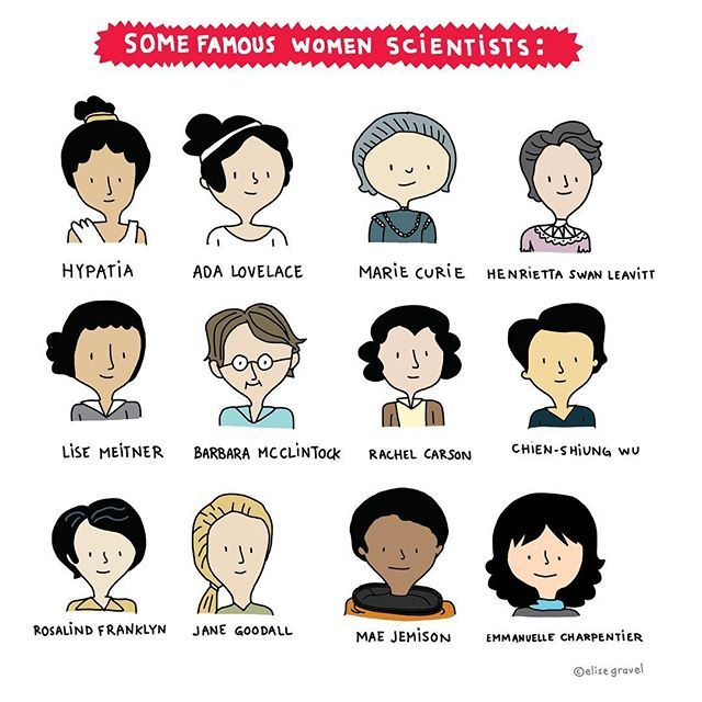 For a book I'm working on. Women scientists rock! #science  #illustrationoftheday #women