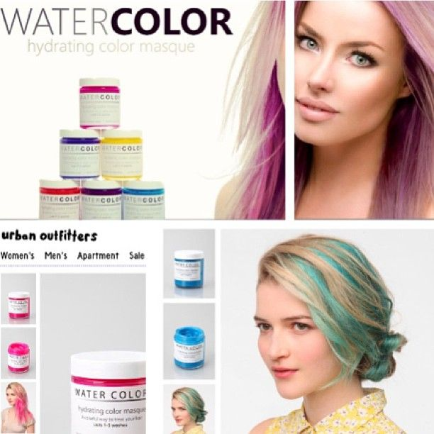 Water Color Hydrating Hair Color Mask With Images Colored Hair