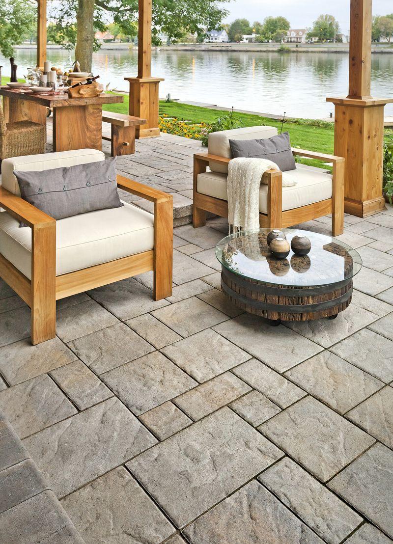 Design Ideas For Concrete Brick And Paving Stone Patios   Landscape Express  Boston