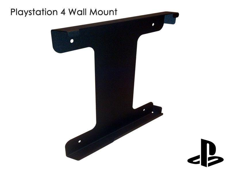 Playstation 4 Wall Mount Ps4 Black Metall Holder From Vnmounts By Dawanda Com Habitacion Gamer Mando Ps4 Hogar