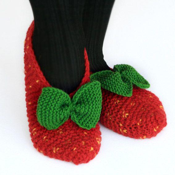 Beautiful hand knit wool slipper Size   US W 9  EU 40 by DMpics, $19.50