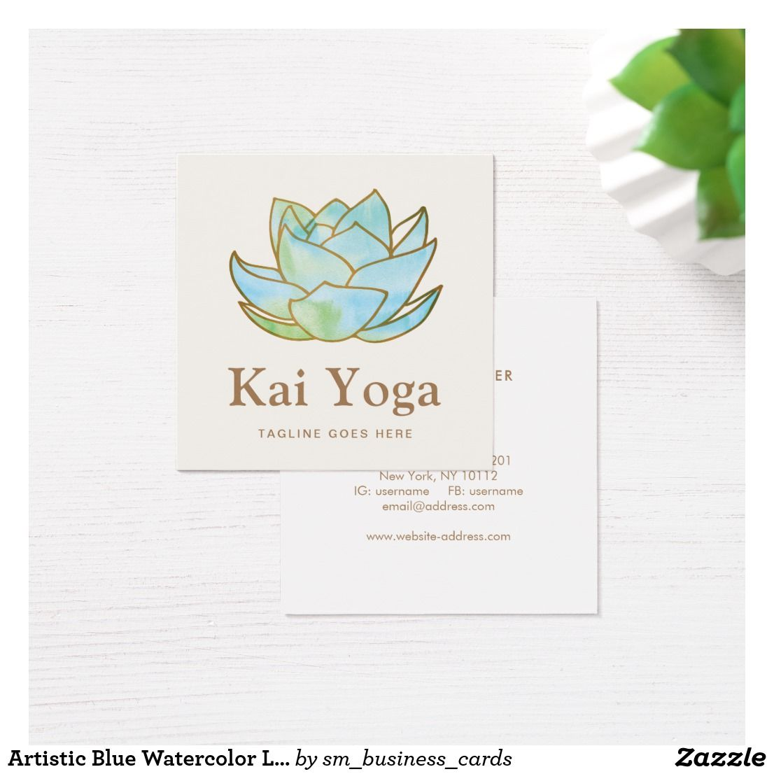Artistic Blue Watercolor Lotus Flower Floral | Holistic Health and ...