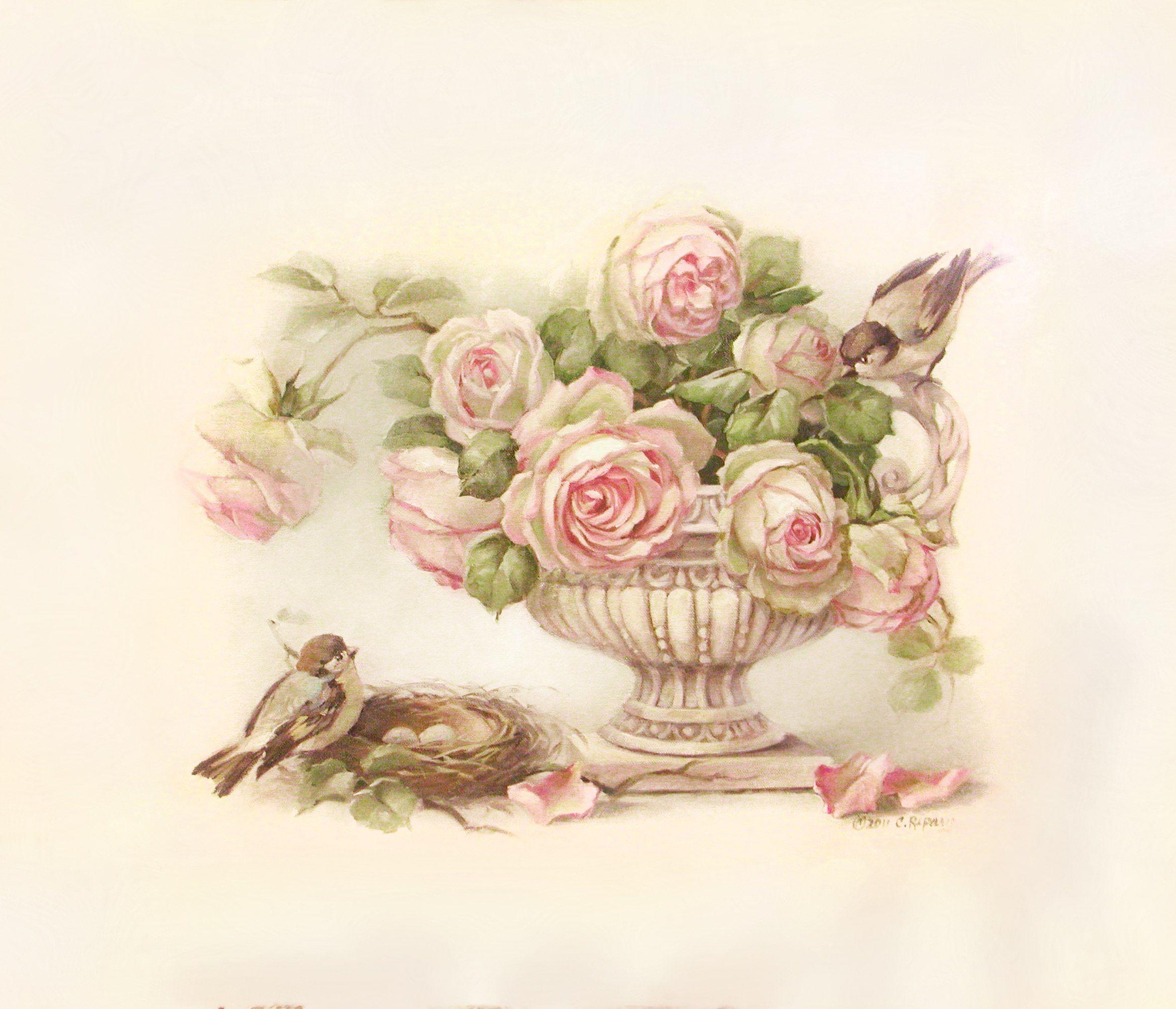 Картинки цветов в стиле винтаж